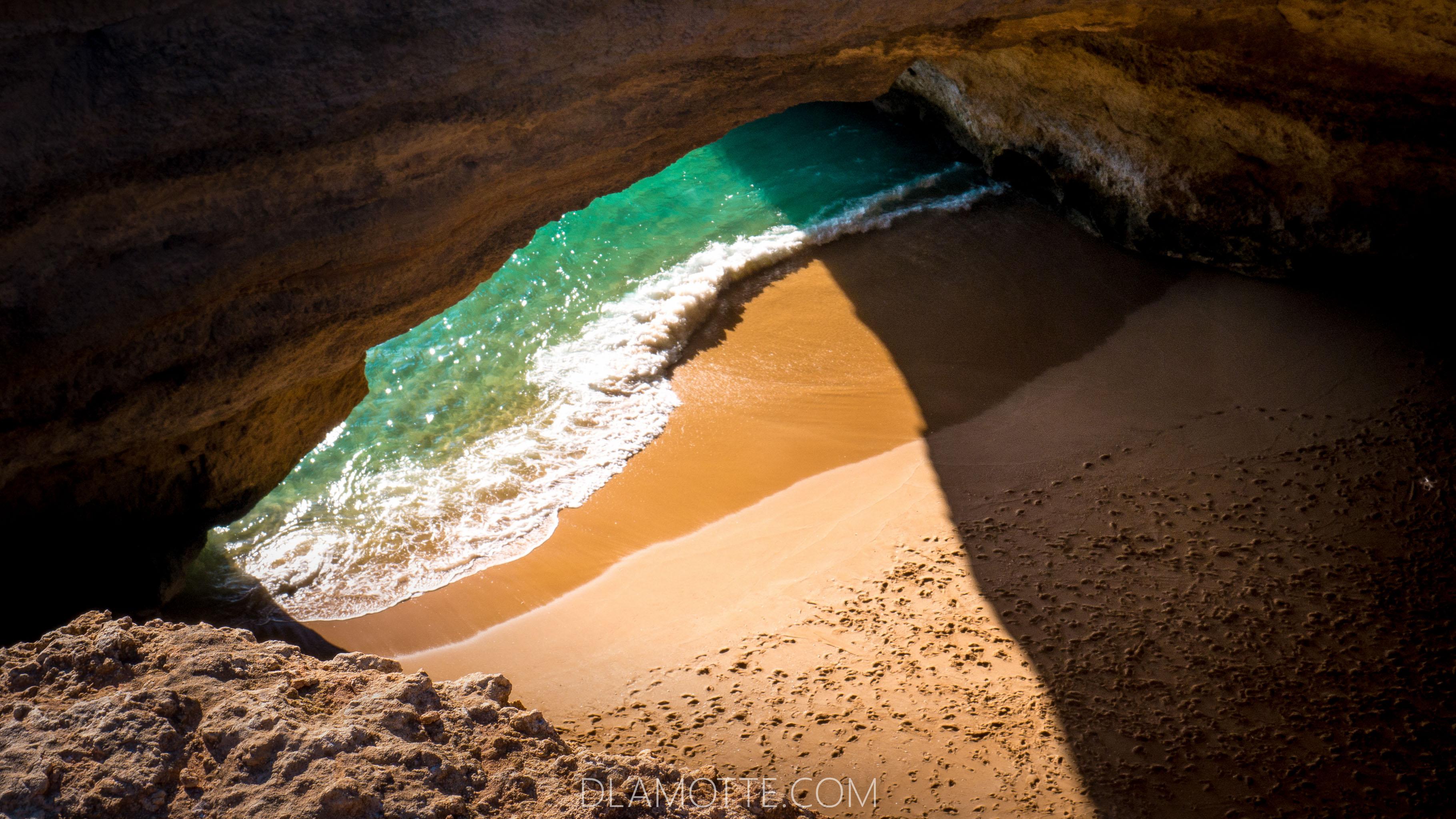 plaża Algarve w listopadzie
