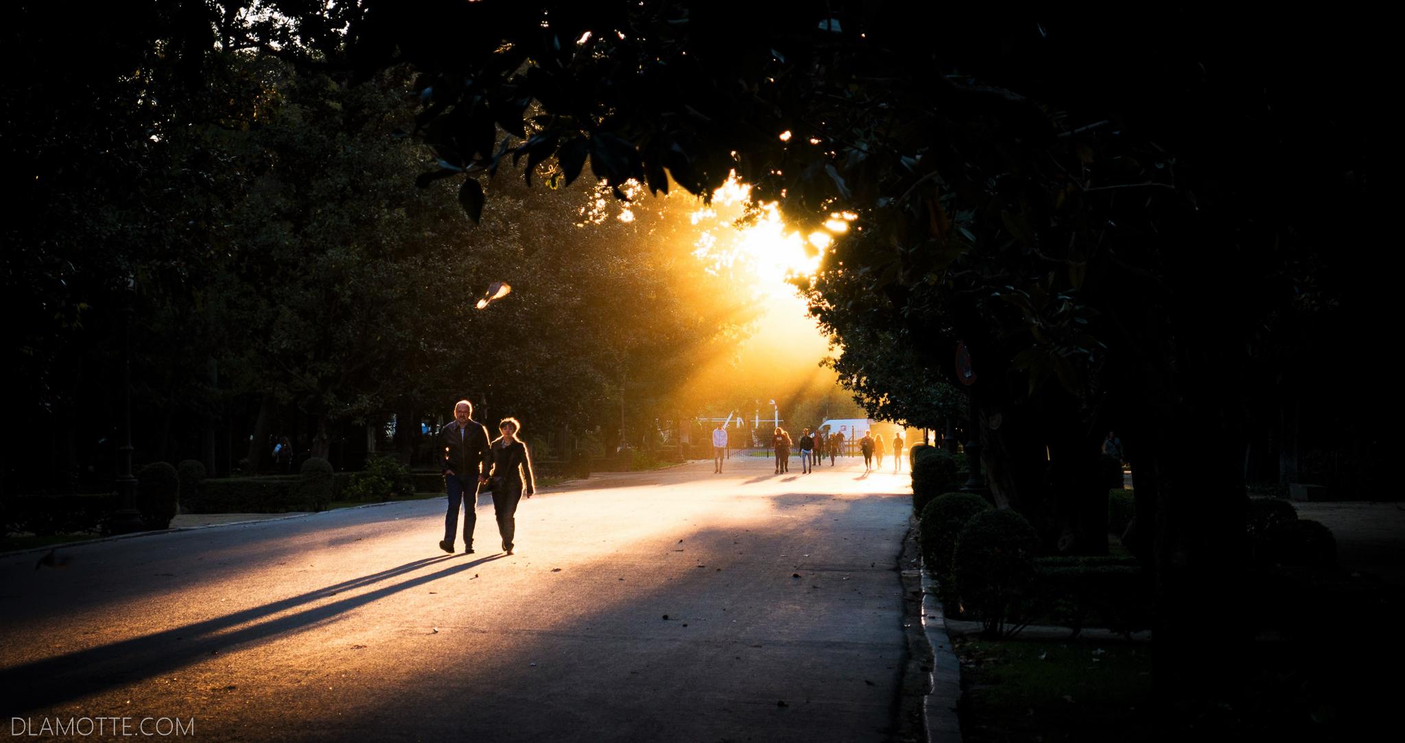 zachód słońca citybreak w Sewilli