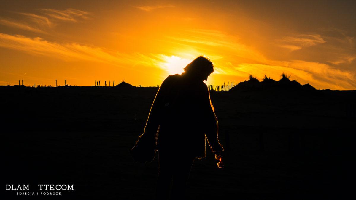 zachód słońca sylwetka portret Punta Paloma