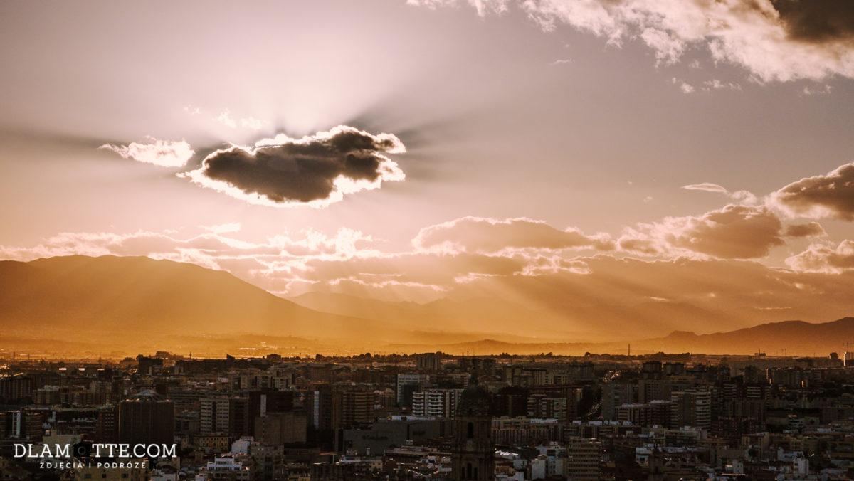 zachód słońca Malaga