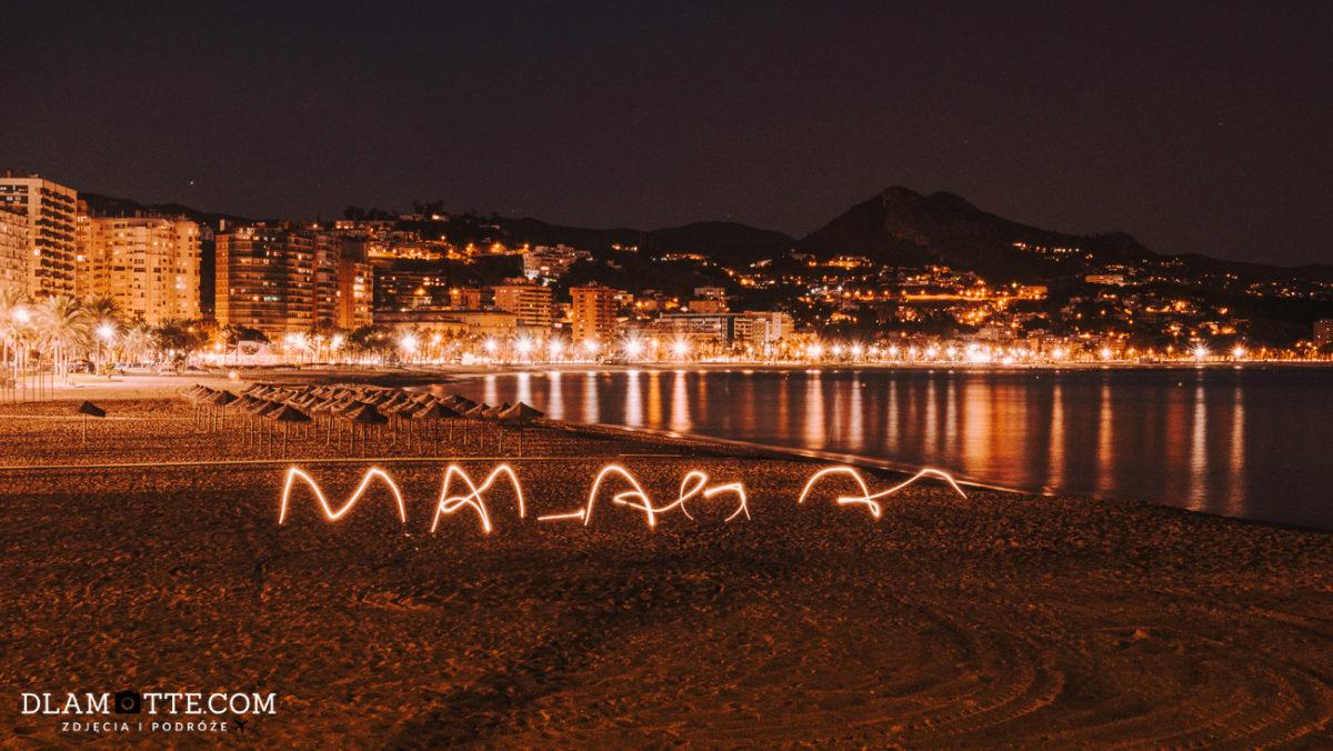 plaża Malaga roadtrip po Andaluzji